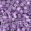 Square Beads 3.4x3.4mm Metallic Purple